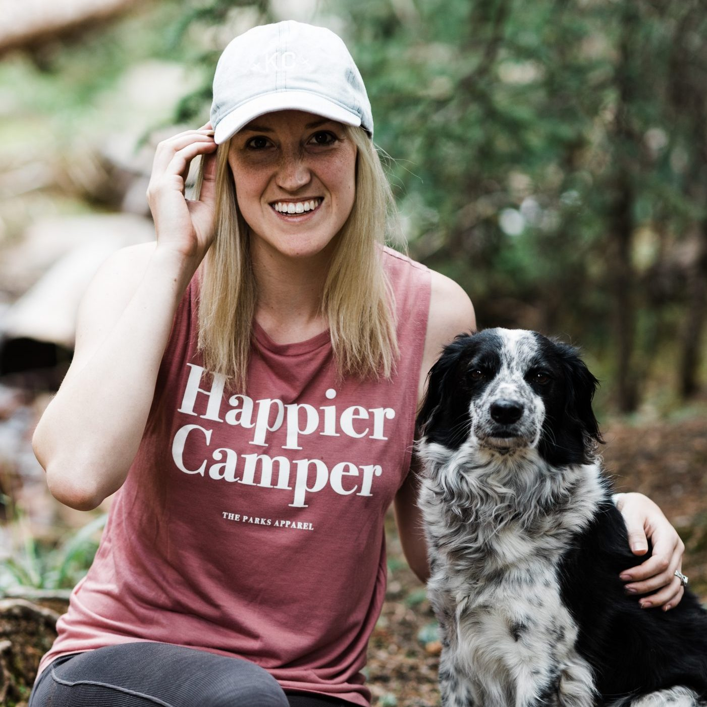 Search + Rescue Community Member, Kira, with her dog.
