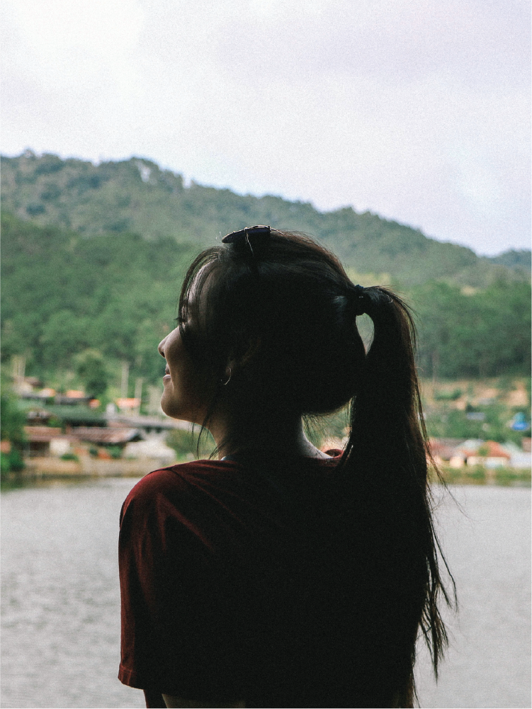 Representative image of young female adult survivor of human trafficking in Thailand.