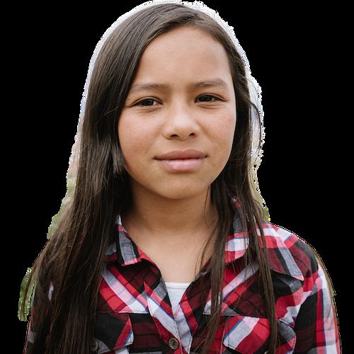 14 Year Old Latina Survivor Foreground